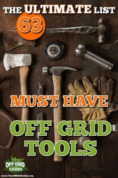 We're often asked which tools we've personally used and recommend when building an off grid home. Well, we've got you covered! We crafted a detailed tools list of 63 different tools we use off grid and broken them down into six sections. Survival Tools, Survival Prepping, Emergency Preparation, Emergency Preparedness, Survival Shelter, Homestead Survival, Survival Gadgets, Survival Supplies, Survival Stuff