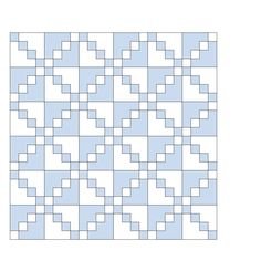 Simple blue and white quilt