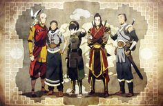 AWESOME Comic Con art of Team Avatar all grown up.