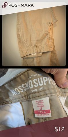 Mossimo Supply Co Khakis Size 17 Worn once and washed. Didn't like the fit. Great condition! Mossimo Supply Co. Pants Boot Cut & Flare