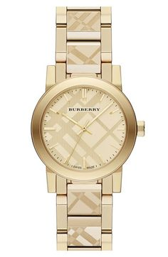 Burberry Check Stamped Bracelet Watch, 26mm available at #Nordstrom