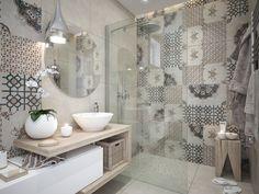 Moderné Rodinné domy v atraktívnej lokalite NA PEKNOM POLI Decorating Ideas, Curtains, Shower, Bathroom, Pulley, Rain Shower Heads, Washroom, Blinds, Full Bath