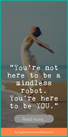 Something missing in your life? ... maybe it's YOU - read more at www.livingthenourishedlife