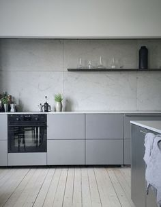 Modern minimalist monochrome kitchen design