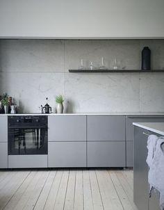 Modern minimalist monochrome kitchen design