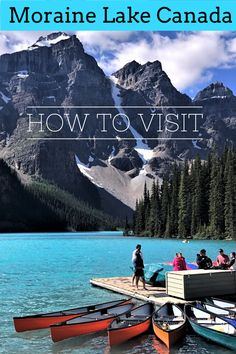 Moraine Lake Canada in Banff National Park is one of the most beautiful and popular destinations in Alberta. A guide to how to get to Moraine Lake including shuttle, bus, cycling, guides and parking options. Travel Ideas, Travel Guide, Travel Inspiration, Canada Destinations, Amazing Destinations, South America Travel, North America, Banff National Park, National Parks