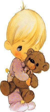 precious moments niño c oso