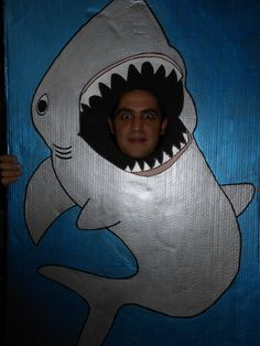 Photocall tiburón, cumpleaños submarino. Submarine Birthday Party - Inma Torrijos