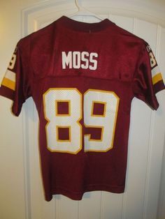 1fbd33872 Details about Santana Moss Washington Redskins NFL Football Jersey Reebok  Size Youth Large