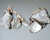 Cuff Links in Sterling Silver and Rough Stones