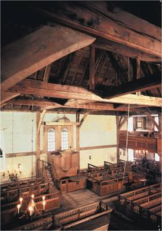 Settings- Early Puritan meeting house, Hingham, MA. Common place for court rulings and gatherings