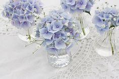 Bilderesultat for pynt bord hortensia blomster