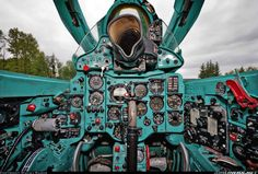 Mikoyan, Aircraft Mig 21, Military Jets, Military Aircraft, Fighter Aircraft, Fighter Jets, Aircraft Interiors, Mig 21, Flight Deck, Aircraft Pictures, Aviation Art