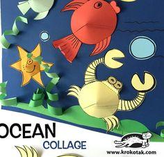 10 Güzel Okulöncesi Deniz Canlıları Çalışması | OkulÖncesi Sanat ve Fen Etkinlikleri Paylaşım Sitesi Crab Crafts, New Crafts, Summer Crafts, Diy And Crafts, Crafts For Kids, Arts And Crafts, Paper Crafts, Painting For Kids, Art For Kids