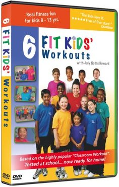 """6 Fit Kids' Workouts are a blast for boys and girls from ages 8 to 13! They're four five-minue and two ten-minute workouts that are easy to learn and fun to do. Teachers across North America have used this DVD (originally called """"The Classroom Workout"""") to re-energize, invigorate and motivate their students. They've found students are happier, smiling and more able to concentrate on their studies after a workout. The six workouts are: 1. Hip & Ha..."""