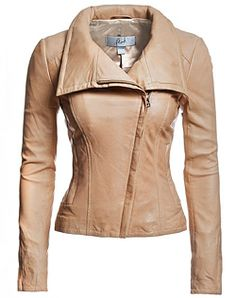 Danier leather jacket in nude - perfect for a Spring type.
