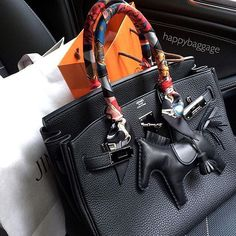 Black Rodeo Charm on Black Birkin