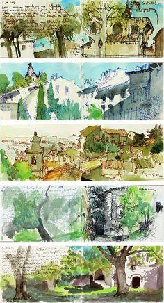 watercolor journal of Provence by Martin Stankewitz squidoo.com -- Sketchbooks!!!!