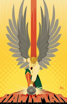 Hawkman by Mike Mahle. Probably one of my favorite heros