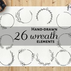 Hand-drawn wreath clip art collection is up in da shop! Tap the center to check it out.