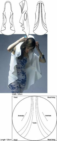 """This is a cool idea for a veil or ritual """"robe"""""""