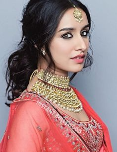 Bollywood actress Shradha kapoor in Anita Dongre bridal lengha Prettiest Actresses, Beautiful Actresses, Beautiful Bollywood Actress, Beautiful Indian Actress, Indian Celebrities, Bollywood Celebrities, Indian Bollywood, Bollywood Fashion, Bollywood Girls
