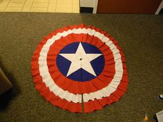With Our Powers Combined: Captain America Tree Skirt