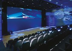 Passive stereo frontprojection for multiple use. Theatrical Scenery, Modern Dance, Dance Art, Concert Hall, Conference, Theater, Opera, Cinema, 3d