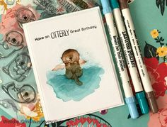 Hi friends! How about some otters today? (I would like some otters every day, please and thank you!) I have a birthday card using the Otterly Love You set from My Favorite Things. Trying to keep th…