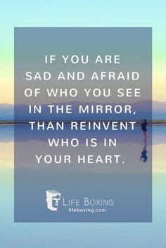 Take a look in the mirror and see who you see.