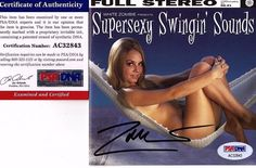 """ROB ZOMBIE Signed CD COVER """"SUPERSEXY SWINGING SOUNDS"""" PSA # AC32843"""