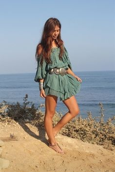 ♥ Nice free dress #summer #loose #green
