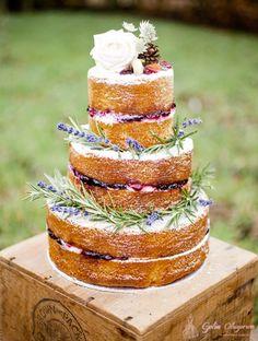 Düğün Pastası İçin Naked Cake