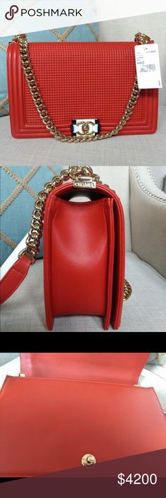 Chanel Medium Boy Bag Brand New Chanel Medium Boy Bag in Red. Dust bag included! 100% authentic CHANEL Bags Shoulder Bags