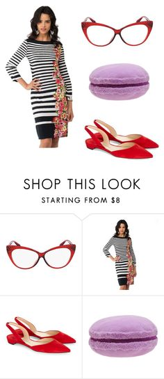 """""""Ali Wong Halloween Costume"""" by thedailyuniform on Polyvore featuring ECI and Paul Andrew"""