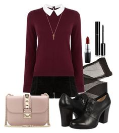 """""""kind of catholic"""" by deliag ❤ liked on Polyvore featuring Oasis, Frye, MAC Cosmetics, Chanel, Gucci and Valentino"""