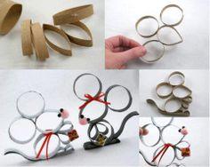 Recycler les rouleaux vide de papier toilette