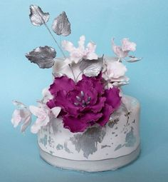 Cake with Silver Leaf