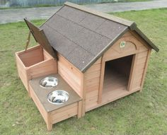 DIY Dog Houses, Dog House Projects, Homemade Dog Houses, Pet Homes, DIY Projects, Easy DIY Projects, DIY Home, Outdoor Projects, Outdoor Home Projects #DogHouses