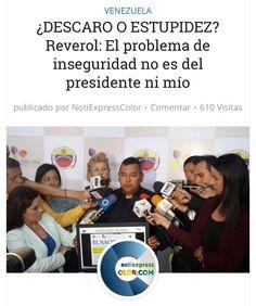 Reverol dice: que el problema de inseguridad no es culpa del gobierno ni de él