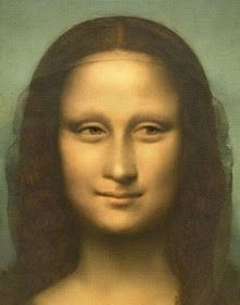MONA  LISA            WELCOME TO AMERICA!     MODERN ARTISTS CONJURED UP THESE FRONTAL PORTRAITS               MONA LISA SELFIE ala 21s...