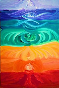 """Do you feel like you're out of alignment? A bit """"off kilter?"""" Want to know how your energy is really flowing? If there's a weak link at the moment? Heard a lot about chakras but don't really understand how to use the information to help you? Chakra Painting, Chakra Art, Spiritual Paintings, Aura Colors, Hippie Art, Ayurveda, Art World, Art Inspo, Watercolor Art"""
