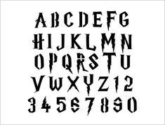 Harry Potter Stencils, Harry Potter Alphabet, Harry Potter Font, Superhero Alphabet, Hp Quotes, Vinyl Style, Alphabet Stencils, Hand Lettering Fonts, Custom Stencils