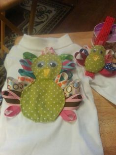 Turkey shirt and bow for grndtr