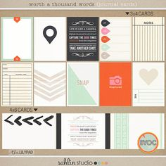 Worth a Thousand Words (Journal Cards) by Sahlin Studio 35% OFF May 2015