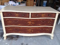 Rustically Refined original piece. Annie Sloan Chalk Paint used.