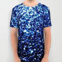 Beautiful Blue sparkles All Over Print Shirt by #PLdesign #BlueSparkles #SparklesGift