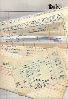 Ledger paper big pack - Old Vintage - Lot of 24 - Spain