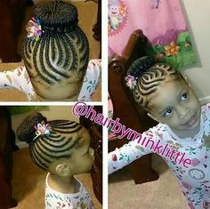 Braids / protective hairstyle / updo / cute / hairstyles for kids / bun / toddle hairstyles - Kids Hairstyles Lil Girl Hairstyles, Natural Hairstyles For Kids, Kids Braided Hairstyles, Princess Hairstyles, Natural Hair Styles, Children Hairstyles, Black Hairstyles, Protective Hairstyles, Protective Styles