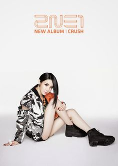 2NE1 Crush Album i love when she has black hair!